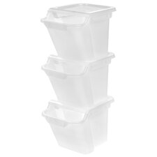 4.6-Gal Recycle Storage Bin (Set of 3)