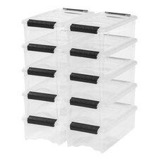 5.7 Qt. Stack & Pull Modular Latch Box (Set of 10)