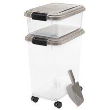 2-Piece Airtight Pet Food Storage Container Set