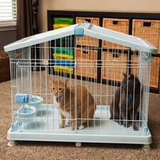 Wire Animal Cage with Casters