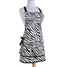 Zebra Apron in Black