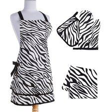 Zebra Kitchen Gift Pack in Black