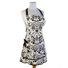 Ravens Dream Apron in Black and White