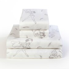 Pillow Fight 300 Thread Count 100% Cotton Sheet Set