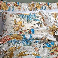 Geisha Garden Peacock Duvet Cover