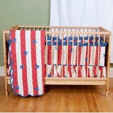 Stars and Stripes Crib Skirt Set