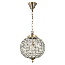 Crystal 1 Light Globe Pendant