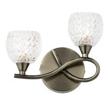 Bow 2 Light Semi-Flush Wall Light