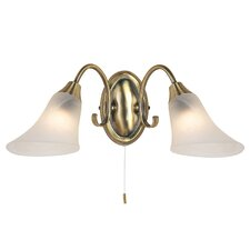 2 Light Semi-Flush Wall Light