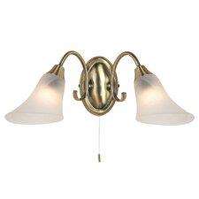 2 Light Semi-Flush Wall Light