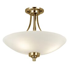 Welles 3 Light Semi-Flush Ceiling Light