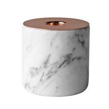 Chunk Marble & Metal Votive