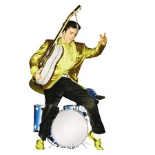 Elvis Presley in Drums Life-Size Cardboard Stand-Up