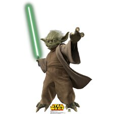 Star Wars Yoda with Lightsaber Cardboard Stand-Up