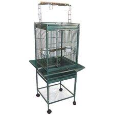 Play Top Parrot Bird Cage with 2 Feeder Doors