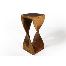 Thai Hand Carved Twist End Table