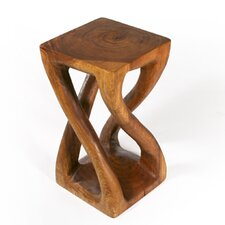 Thai Hand Carved Vine Twist End Table