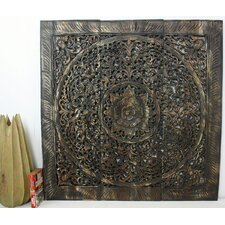 Lotus Square Panel in Recylced Teak Wall Décor