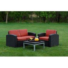 Cielo 3 Piece Deep Seating Group with Cushion