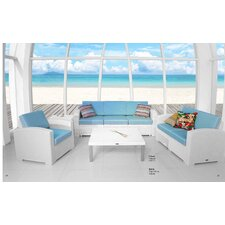 Loggins Cielo Patio 4 Piece Bench Seating Group with Cushion