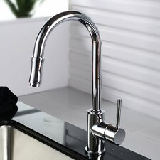 Single Handle Pull Down Kitchen Faucet Set with Spray and Soap Dispenser