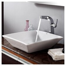 Bathroom Combos Single Hole Waterfall Typhon Faucet and Bathroom Sink