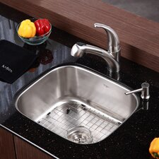 """20.75"""" x 17.75"""" Undermount Single Bowl 16 Gauge Kitchen Sink"""