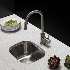 """14.5"""" x 13"""" Undermount Single Bowl Kitchen Sink"""