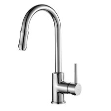 Single Handle Deck-Mounted Kitchen Sink Faucet