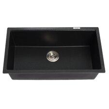 """31"""" x 17.09"""" Undermount Single Bowl Granite Kitchen Sink"""
