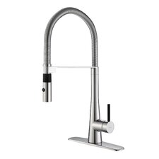 Crespo™ Single Lever Commercial Style Kitchen Faucet with Flex Hose