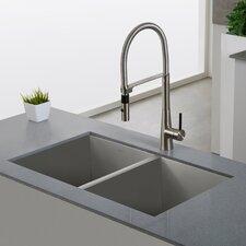 Crespo™ Single Lever Commercial Style Kitchen Faucet with Flex Hose