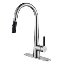 Crespo™ Single Lever Pull Down Kitchen Faucet