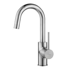 Mateo Commercial Style Kitchen Faucet w Bar/Prep Faucet with Soap Dispenser