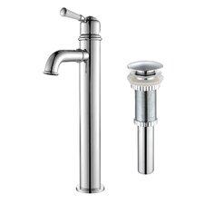Single Lever Vessel Bathroom Faucet with Pop-Up Drain