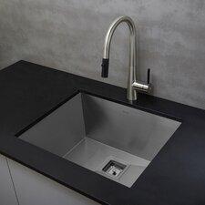 "Pax™  22.5' x 18.5"" Zero Radius16 Gauge Handmade Undermount Single Bowl Stainless Steel Kitchen Sink"