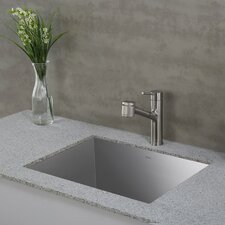 "Pax™ Zero-Radius 24"" x 18.5"" 18 Gauge Handmade Undermount Single Bowl Stainless Steel Laundry and Utility Sink"