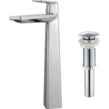 Single Lever Vessel Bathroom Faucet with Pop-Up Drain