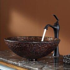 Venus Glass Vessel Sink and Ventus Faucet