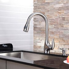 Kitchen Faucet with Soap Dispenser & Pull-Out Spray