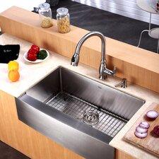 One Handle Centerset Kitchen Faucet with Soap Dispenser