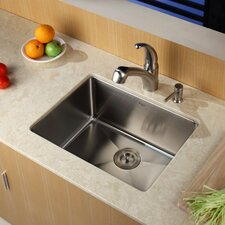 """23"""" x 18"""" Undermount Kitchen Sink with Faucet and Soap Dispenser"""