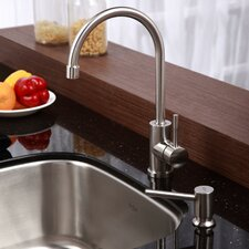 Stainless Steel Undermount Single Bowl Kitchen Sink with Kitchen Faucet and Soap Dispenser
