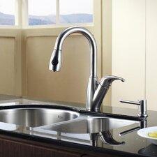 """30"""" x 19.5"""" 8 Piece Undermount Double Bowl Kitchen Sink Set"""