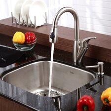 """20"""" x 17.75"""" 6 Piece Undermount Single Bowl Kitchen Sink Set"""