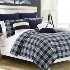 Eddington Comforter Set in Blue & Gray