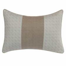 Longitude Quilted Cotton Boudoir/Breakfast Pillow