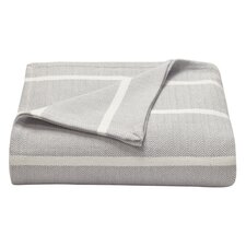 Brayton Herringbone Stripe Cotton Blanket
