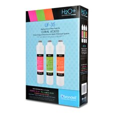 H2O+ Coral Three-Stage Replacement Filter (Set of 3)