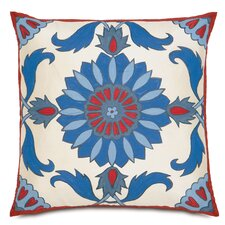 Folkloric Islamic Tile Work Throw Pillow